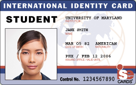International student identity id cards for University id card template