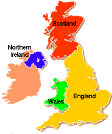 Map Of Ireland England.Map And Climate Study In The Uk